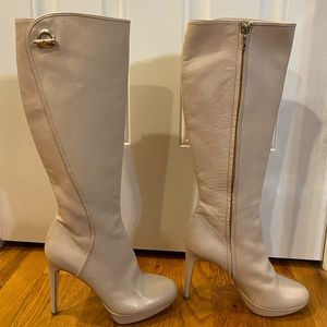 CHRISTIAN DIOR KNEE HIGH BOOTS SZ 38.5 *NEW W DEFT